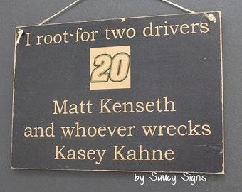 matt kenseth wrecks kasey kahne drivers sign