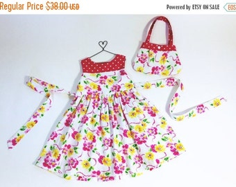 Girls 2T dress special occasion dress birthday outfit girls boutique dress girls pink dress girls floral dress and matching purse