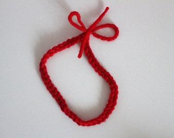 Red Newborn Chain Headband