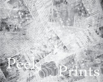 2ft.x2ft. Read All About it- Newspaper Vinyl Photography Backdrop Prop - Food & Product Photography Background - Blog Supplies