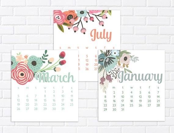 mini 2018 calendar