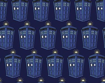 BBc Dr. Who Police Public Call Box cotton fabric by Springs Creative