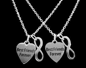 Best Friend Gift, Best Friend Necklace, Best Friends Forever Gift BFF Infinity Necklace Set