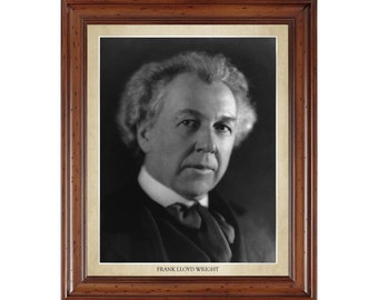 Frank Lloyd Wright portrait; 16x20 print on premium heavy photo paper