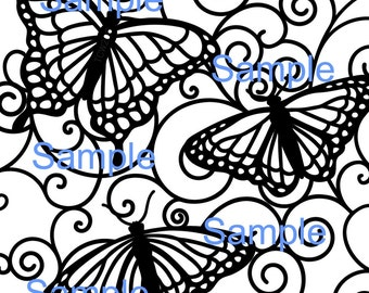 Butterfly stain glass SVG