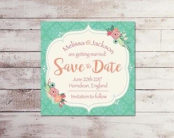 Save the date, Bridal shower, Wedding, Baby Shower, Birthday invitation