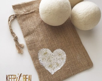 Wool Dryer Balls -Valentines Day-