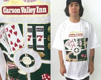 90's Graphic T-Shirt Casino Las Vegas 1990s 1980s vintage