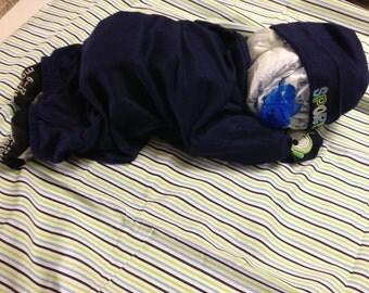 Sleeping baby Diaper caker Centerpiece