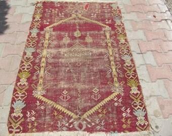 "Turkish Antique carpet for collectors 52""x32"""