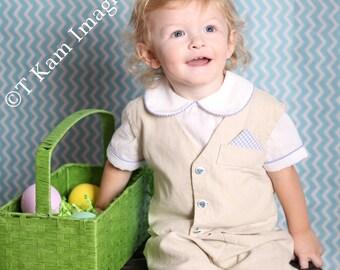 BOYS Dress Classic Vest + Pant w/custom pocket square - Bow or Long Tie - 3 Piece SET