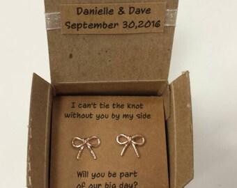 Rose Gold Bow Earrings