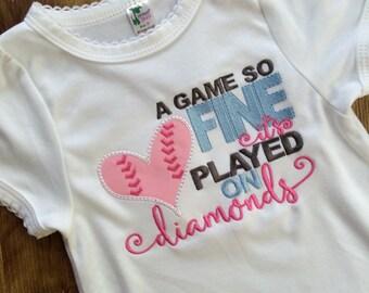 baseball baby, baseball shirt, baseball bodysuit, softball bodysuit, softball baby, played on diamonds