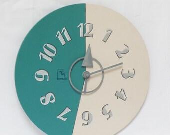 Bicolour Clock 'Eucalyptus'