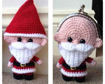 Santa Coin Purse Crochet Pattern