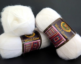 Wool-Ease Lion Brand Yarn White Frost Craft Supplies 3 Skeins