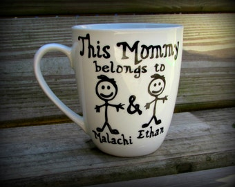 This Mommy belongs to mug, Personalized Mom mug, Custom Mommy Coffee cup, Gift for mom, Mom, Mommy, Dad, This Daddy belongs to Coffee Mug