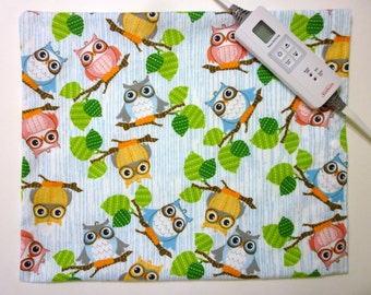 Heating Pad Cover ~ Electric Heating Pad Cover ~ Fits 12 x 15 ~ Owls on Branches