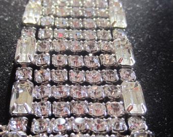 Clear rhinestone cuff bracelet