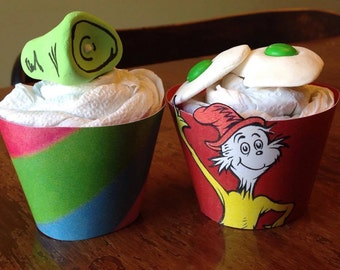 Dr. Suess Cupcake Wrappers