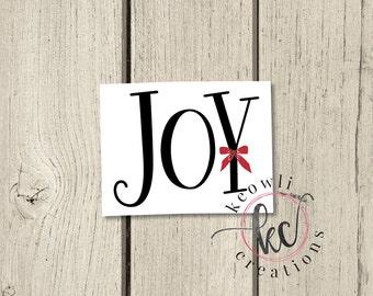 Joy Vinyl Decal-Style 3