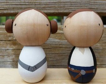 Space Geek Kokeshi Peg Dolls / Cake Toppers / Collectibles
