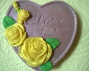 3 Natural Heart Soaps ! I Love You! Decorative,Homemade, Unique Novelty Soaps Pick Scent