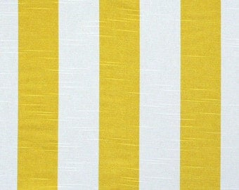 Yellow Valance. Corn Yellow Stripe. Corn Yellow and white. Curtain.Window treatment. Designers pattern. Choose  your sizes