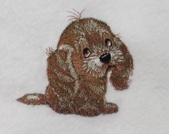 Personalised Fleece Dog Blanket - Spaniel Puppy Design (80)