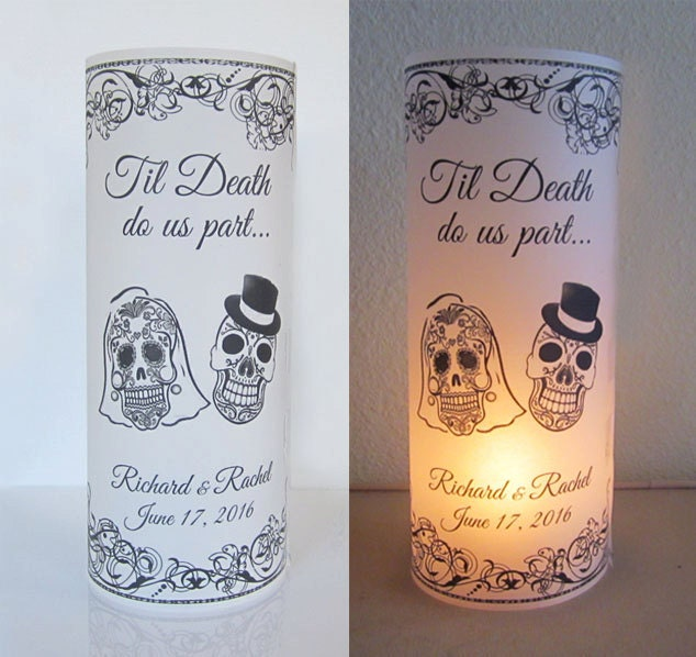 12 Personalized Sugar Skull Day of the dead Wedding