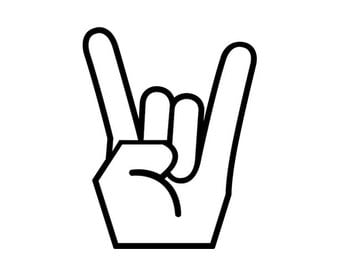 Rock On Hand Sign - Di Cut Decal - Car/Truck/Home/Laptop/Computer/Phone Decal