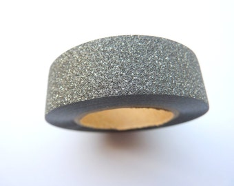 Black Glitter Sticky Tape 15mm x 10m