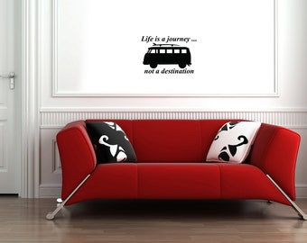 A3 quirky life quote vinyl wall decals