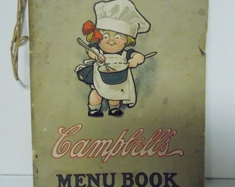 1910 Campbell's Soup Menu Book A Menu for Every Day in the Month Joseph Campbell Co USA