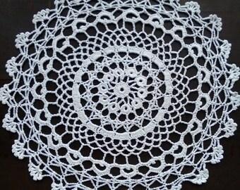 Vintage white crochet doily