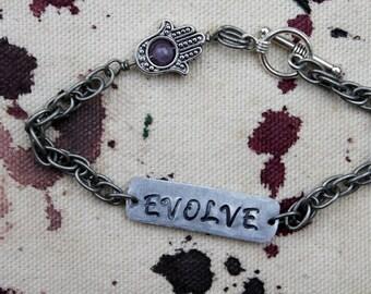 Evolve Metal Stamped Bracelet