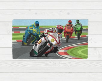 Throw Rugs Area Rug Motor Cross Motorcycle Racing