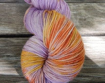 Hand Dyed Yarn- One of a Kind Color- Purple Haze