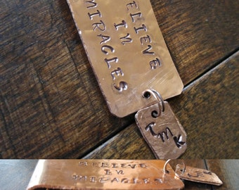 Customize Your Own Copper Hand Stamped Pendent