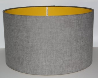 Lamp shades etsy uk grey drum lampshade modern lampshade ceiling lampshade table lamp aloadofball Images