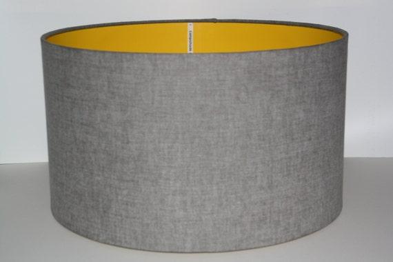 Grey Drum Lampshade Modern Lampshade Ceiling Lampshade