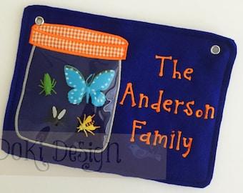 Bug Jar Embroidered Stroller Tag