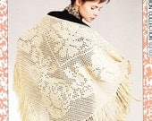 50% OFF Crochet Pattern Shawl Womens Lace Shawl Instant Download PDF Winter Crochet Project
