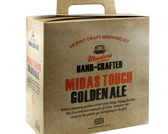 Muntons Craft  Midas Touch Golden Ale 3.6kg   beer  kit homebrew 40 pints