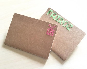 Cross Stitched Notebook (A5-A4)