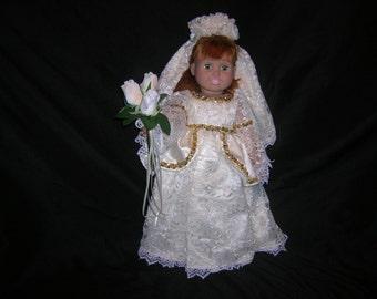 "18"" Doll Pricess Style Wedding Dress D07"