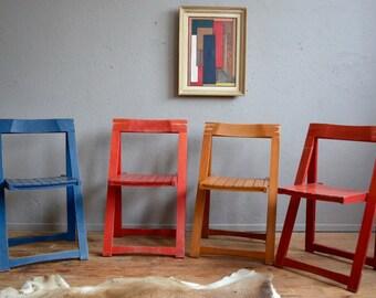 Chairs folding chairs for extra Aldo Jacober Alberto Italian design Bazzani retro 60s geometric holding chairs italian design