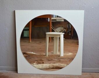 Mirror vintage retro 70s space age mirror round Roger Landault minimalist Etienne farmer futuristic round mirror Finnmirror antic