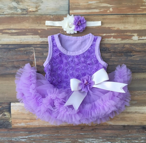 Purple First Birthday. Baby Girl 1st Birthday Outfit. Baby
