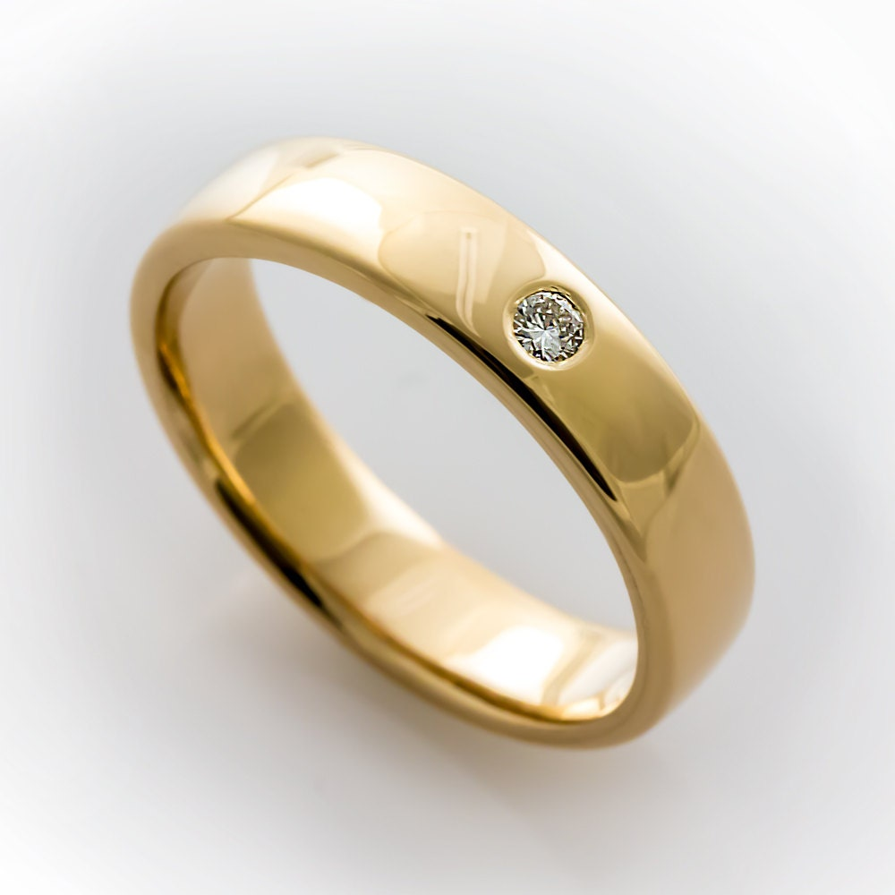 Simple Wedding Rings: Simple Engagement Ring Simple Diamond Wedding Band Modern